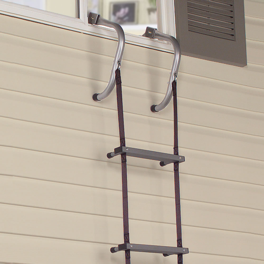 The Easy Deploy Fire Escape Ladder Hammacher Schlemmer