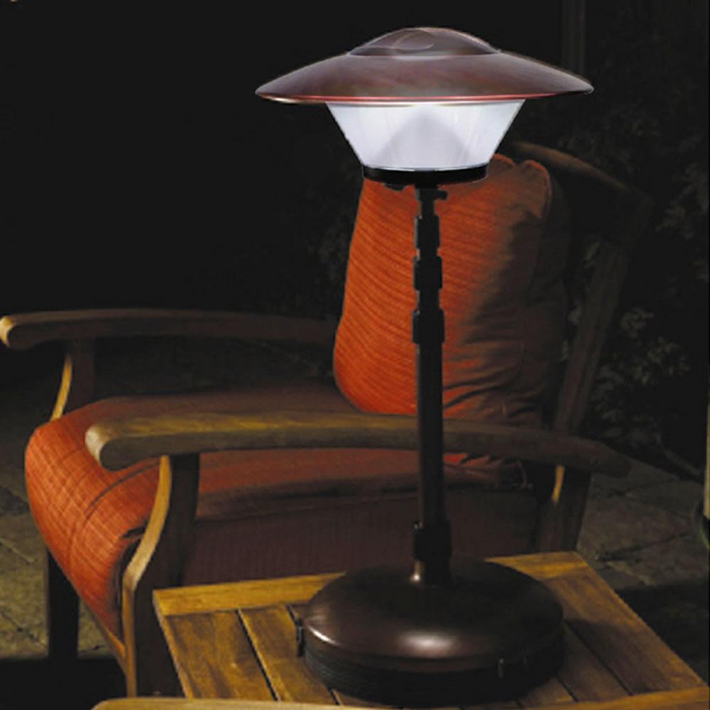 The Cordless Telescoping Patio Lamp Hammacher Schlemmer