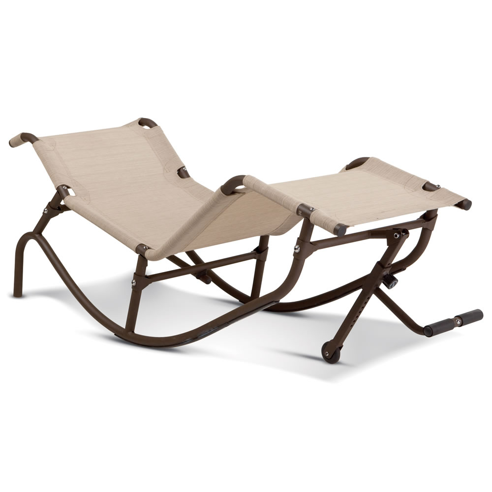 The Foot Propelled Rocking Outdoor Lounger 2