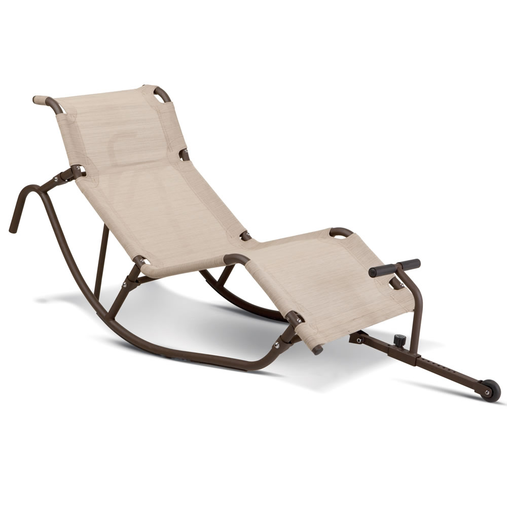 The Foot Propelled Rocking Outdoor Lounger 3