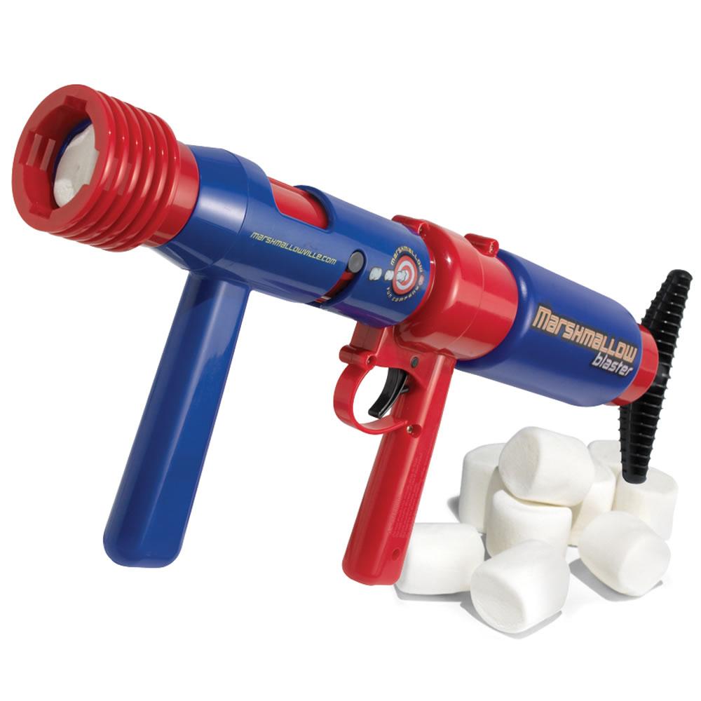 The Pump Action Marshmallow Blaster Hammacher Schlemmer