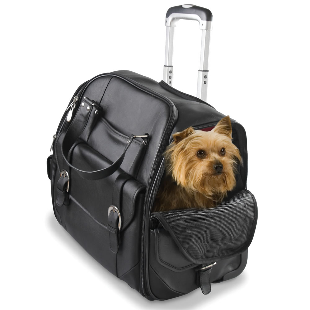 The Rolling Leather Pet Carry On2