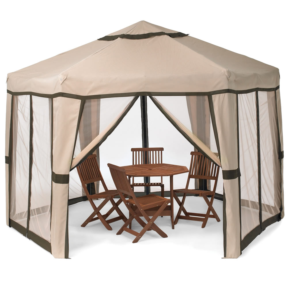 the pop up pavilion hammacher schlemmer. Black Bedroom Furniture Sets. Home Design Ideas