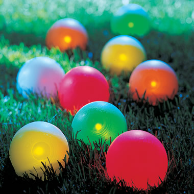 The Lighted Bocce Ball Set