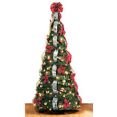 The Thomas Kinkade Pop Up 6 1/2 Foot Christmas Tree.