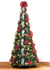 The Thomas Kinkade Pop-Up 6 Foot Christmas Tree.
