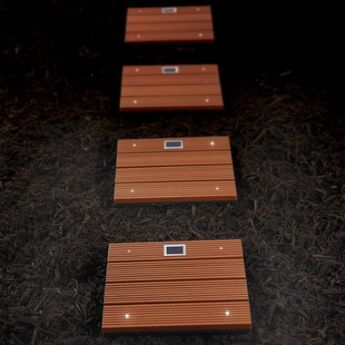 The Solar Lighted Walkway Tiles.
