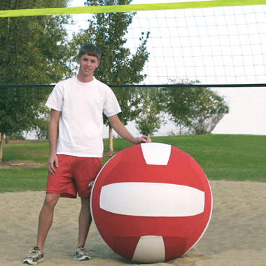 The Giant Volleyball Set.