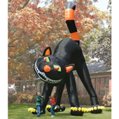 The Two Story Inflatable Black Cat.