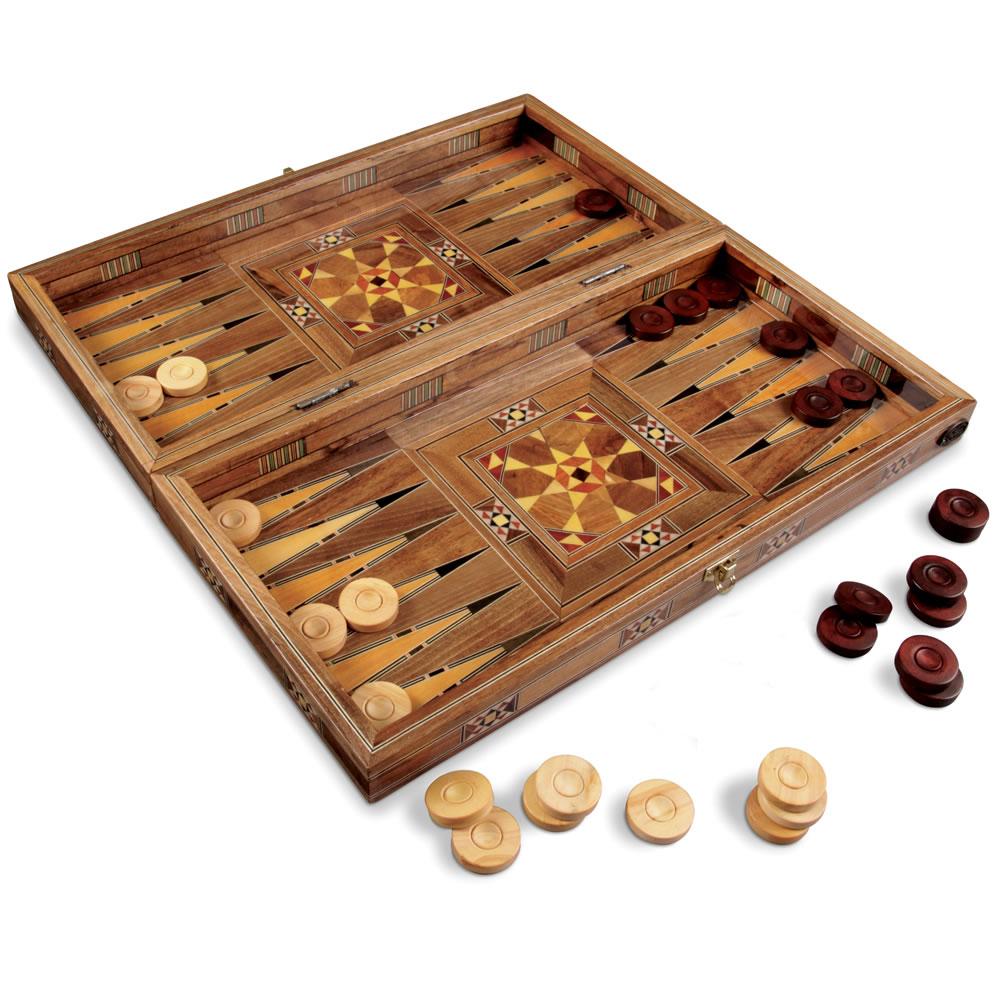 The Handmade Turkish Backgammon Set - Hammacher Schlemmer
