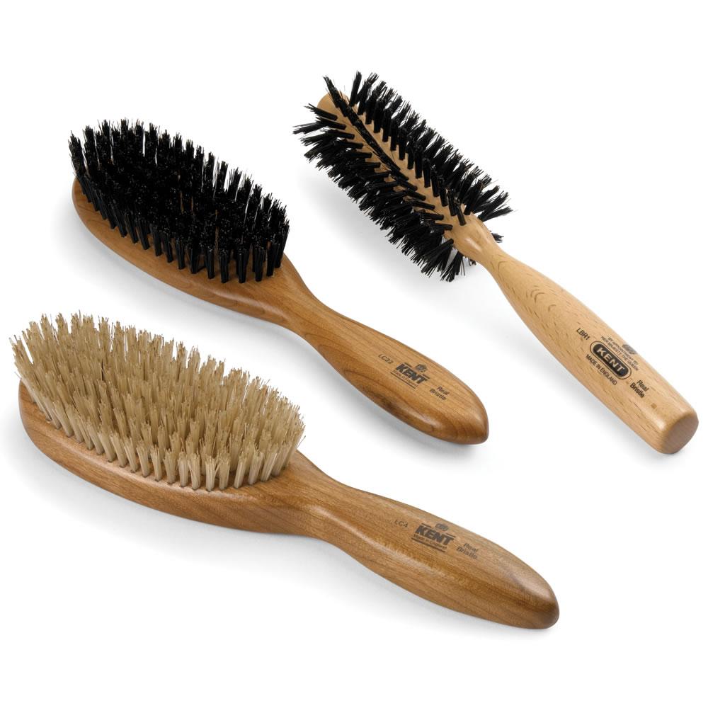 The Shine Enhancing Genuine Boar Bristle Brushes - Hammacher Schlemmer
