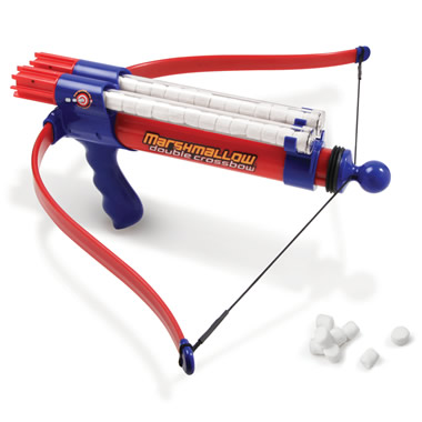 The Double Barreled Marshmallow Crossbow.