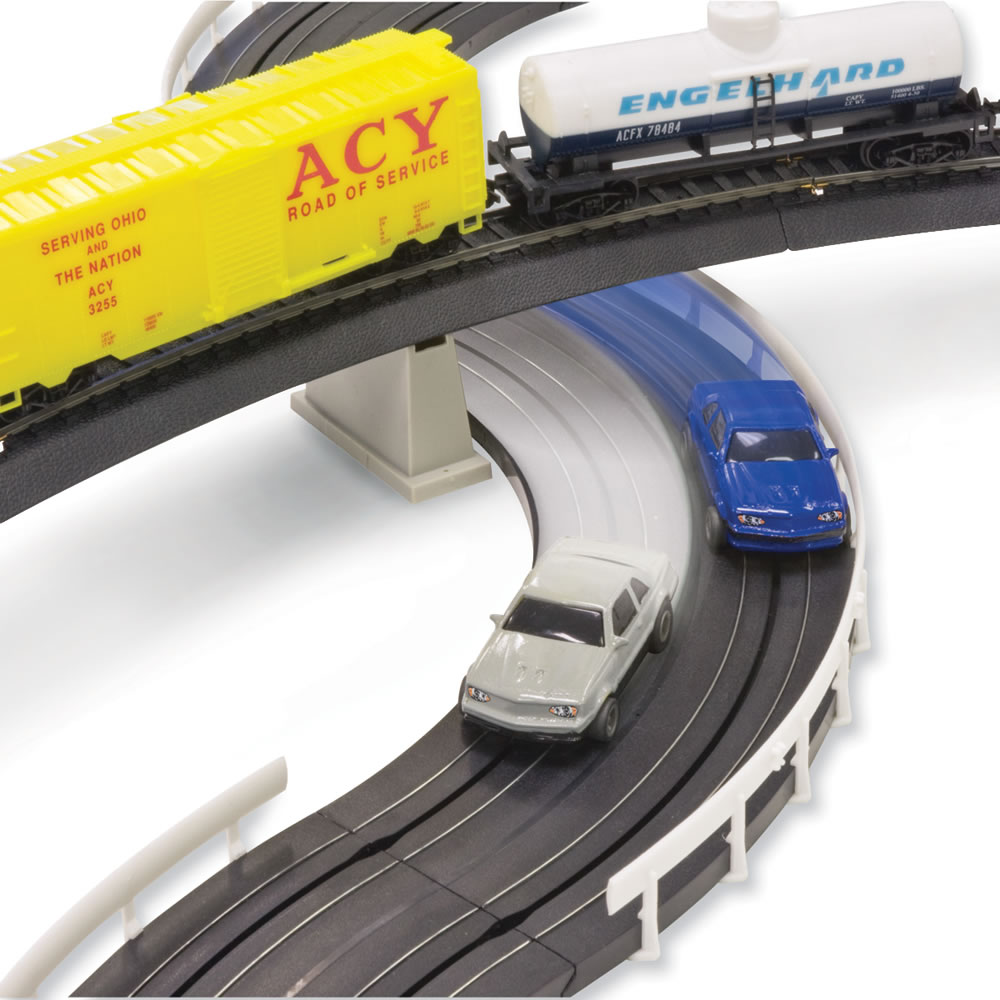 The Only Intersecting Slot Car And Train Set 2