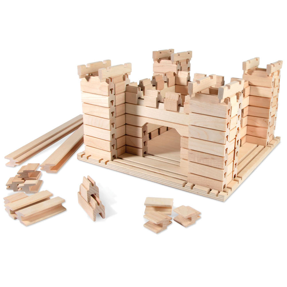 The Tongue and Groove Wooden Construction Set 1