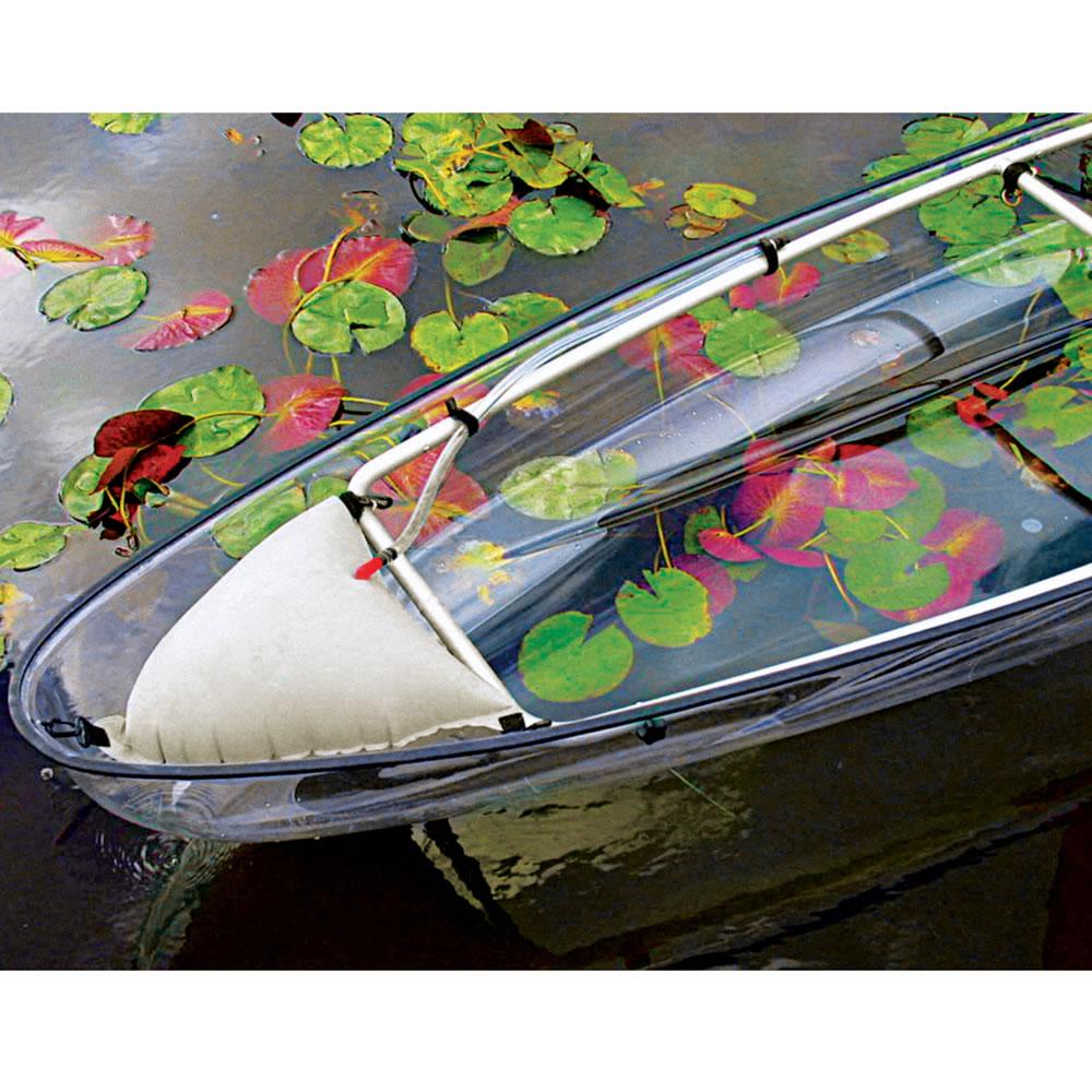 the transparent canoe kayak hammacher schlemmer