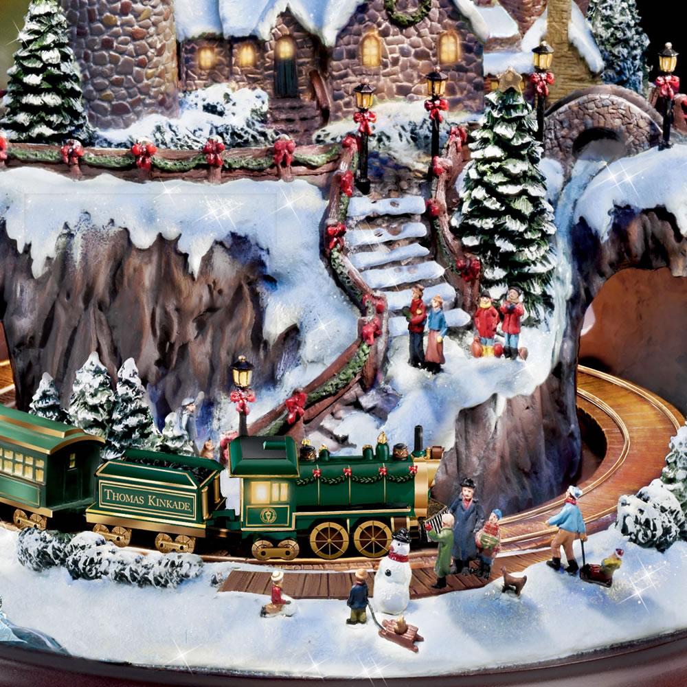 Kinkade christmas ornaments - The Thomas Kinkade Christmas Seaside Village