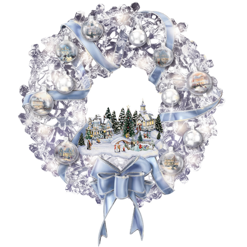 The Thomas Kinkade Glistening Wreath 1