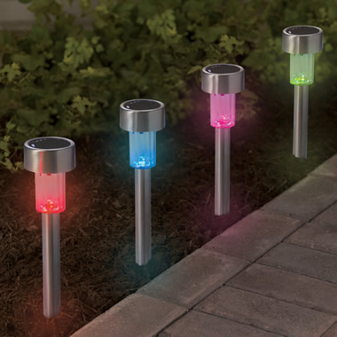 The Color Changing Solar Walkway Lights.