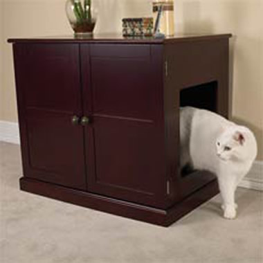 The Cat Box Concealing Cabinet.