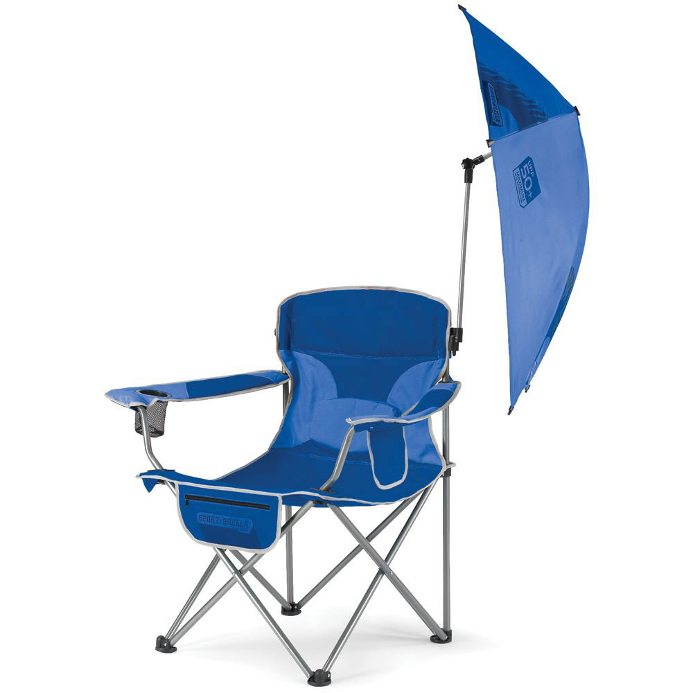 The infinitely adjustable umbrella sports chair without for Lawn chair with umbrella