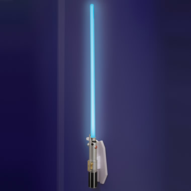 The Lightsaber Wall Sconce.