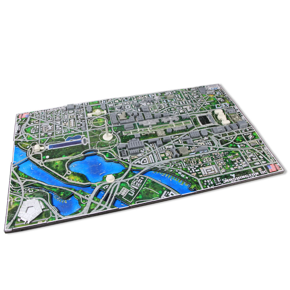 The Famous U S  Cities 4D Skyline Puzzle 2