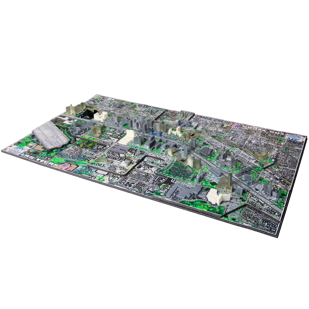 The Famous U S  Cities 4D Skyline Puzzle 4