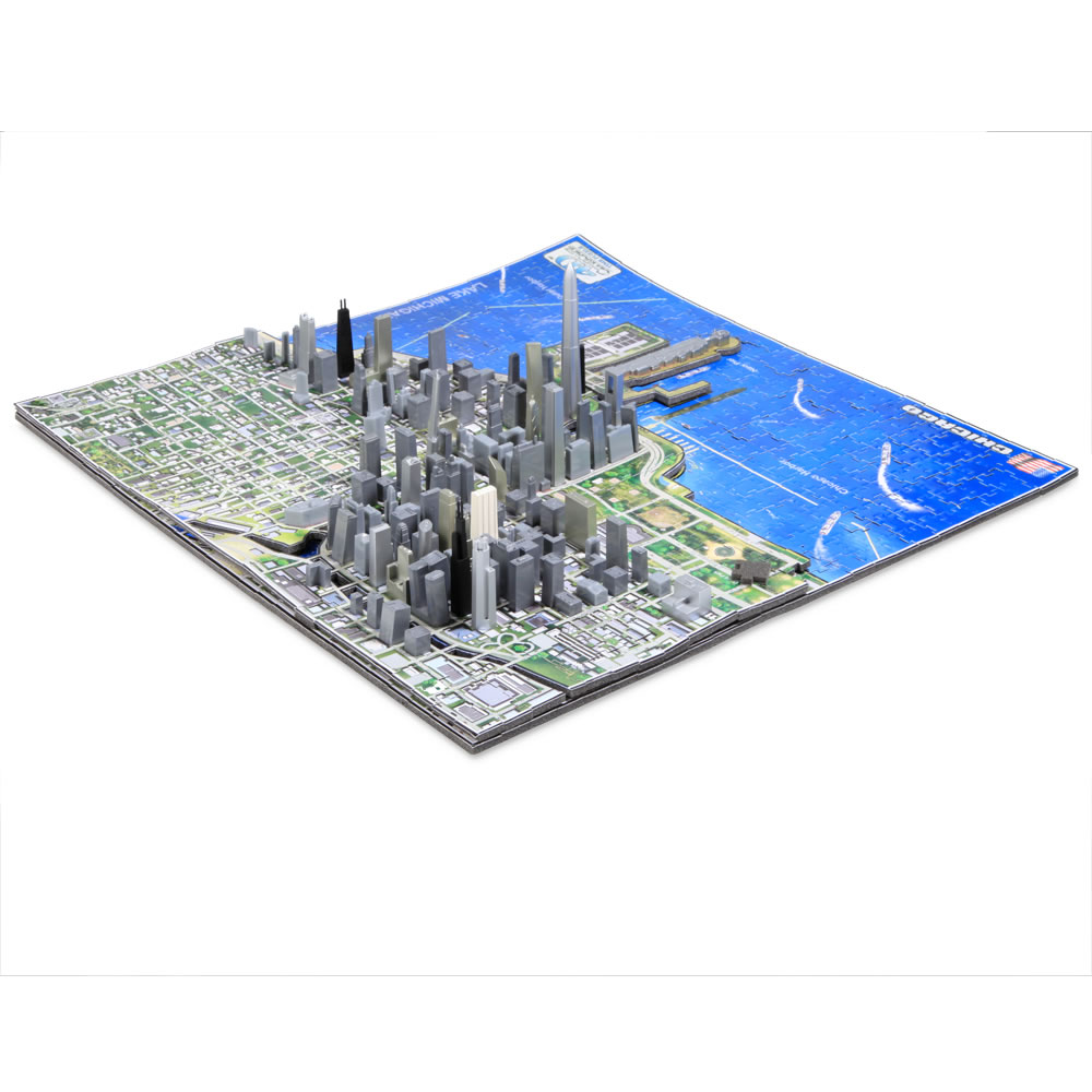 The Famous U S  Cities 4D Skyline Puzzle 3