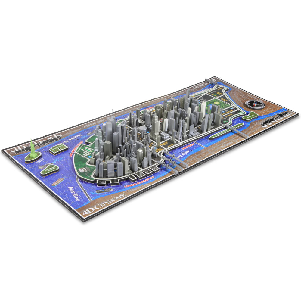 The Famous U S  Cities 4D Skyline Puzzle 1
