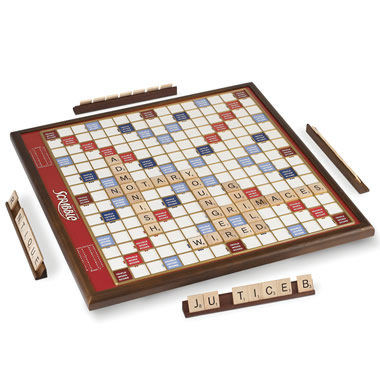 The Rotating Oversized Scrabble Game.