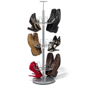 The Space Saving 18 Pair Shoe Rack.