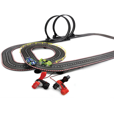 The Dynamo Powered Slot Car Set.