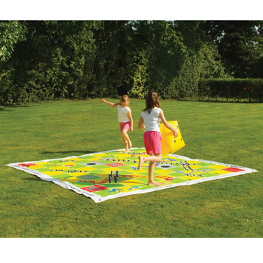 The Snakes And Ladders Lawn Game.