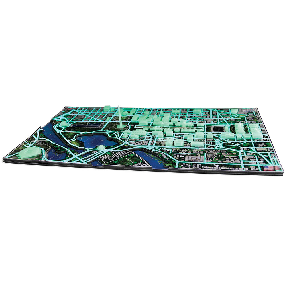 The Only Luminescent 4D Washington D C  Skyline Puzzle 1