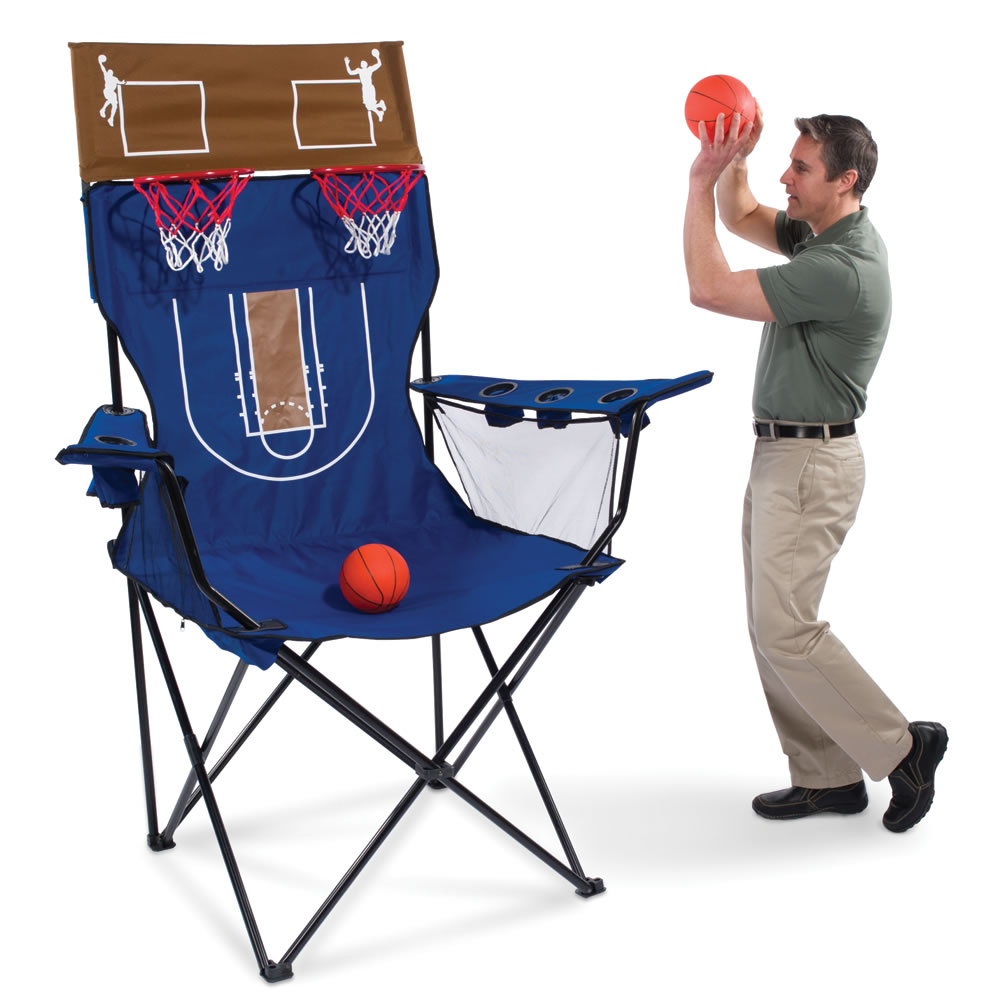 The Brobdingnagian Basketball Chair Hammacher Schlemmer