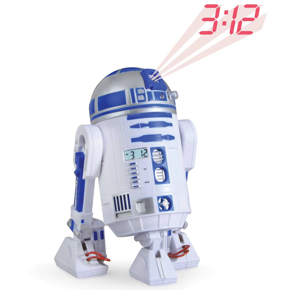 The R2 D2 Projection Alarm Clock Hammacher Schlemmer