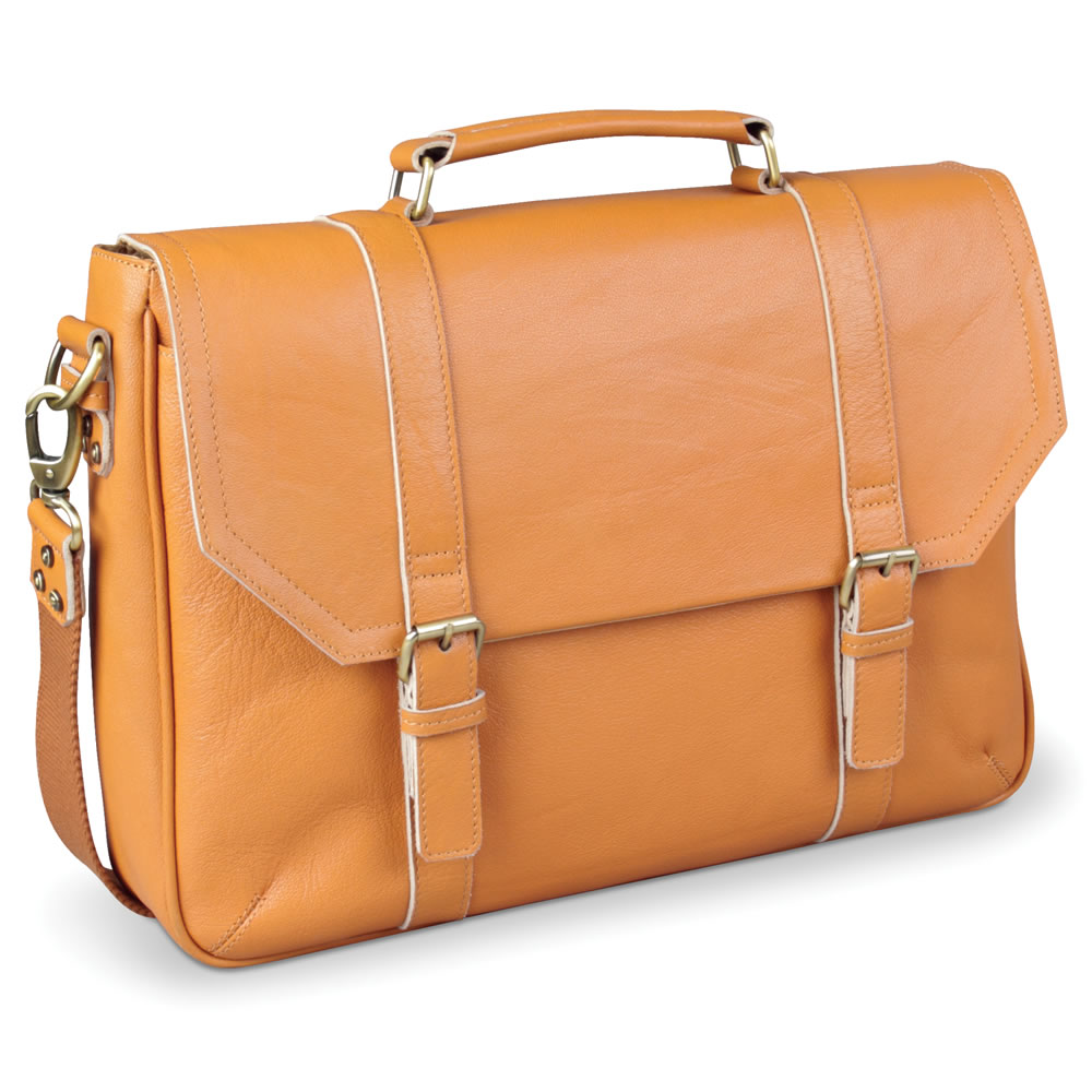 The Camel Leather Satchel 1