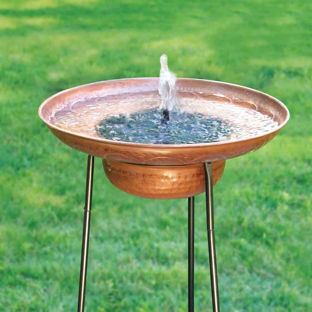 The Solar Fountain Birdbath 2