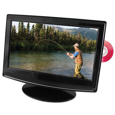 The LED Television With DVD Player.