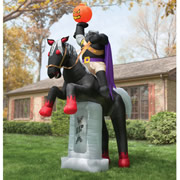 The 12' Inflatable Headless Horseman.