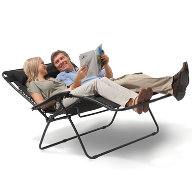 The Outdoor Reclining Loveseat.