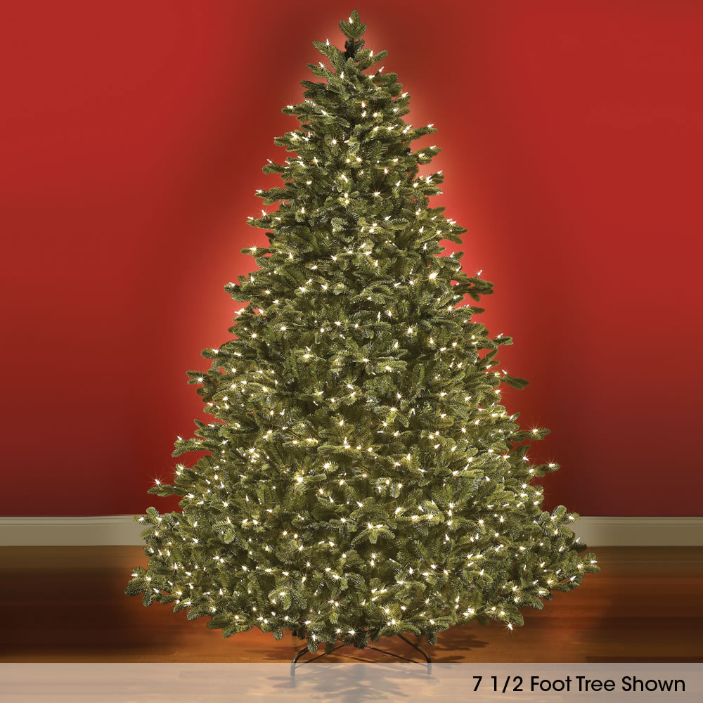 100+ [ Noble Fir Artificial Christmas Tree ] : 7 5ft Snowy Imperial Feel Real Spruce Artificial ...