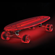 The Illuminated Flexible Skateboard.