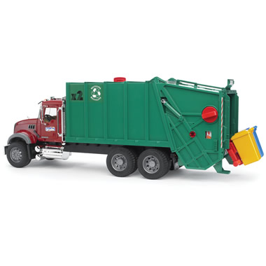 The Working Recycling Truck