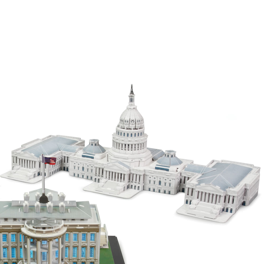 The 3D Washington D C  Landmark Building Set 4