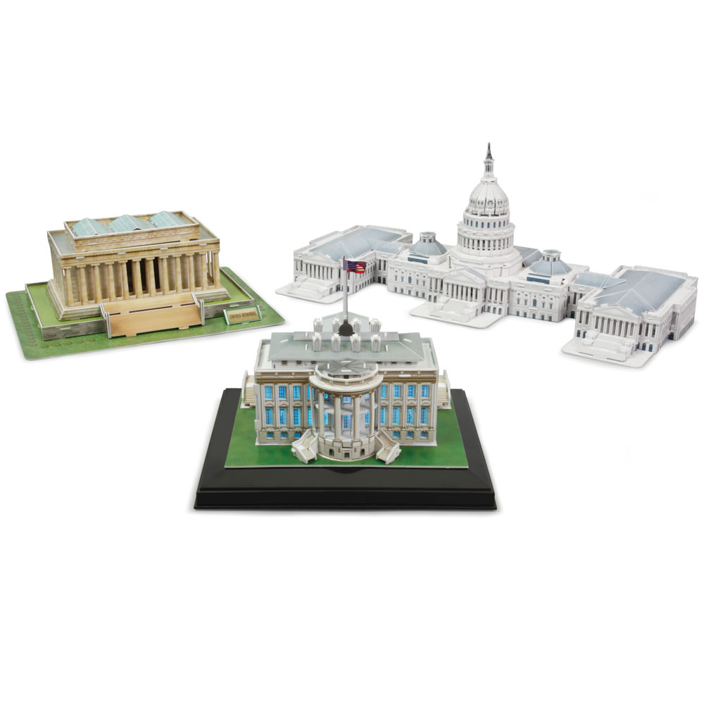 The 3D Washington D C  Landmark Building Set 1
