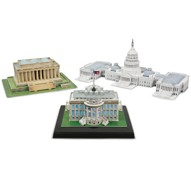 The 3D Washington D.C. Landmark Building Set.