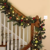 The Cordless Prelit Ornament Garland.