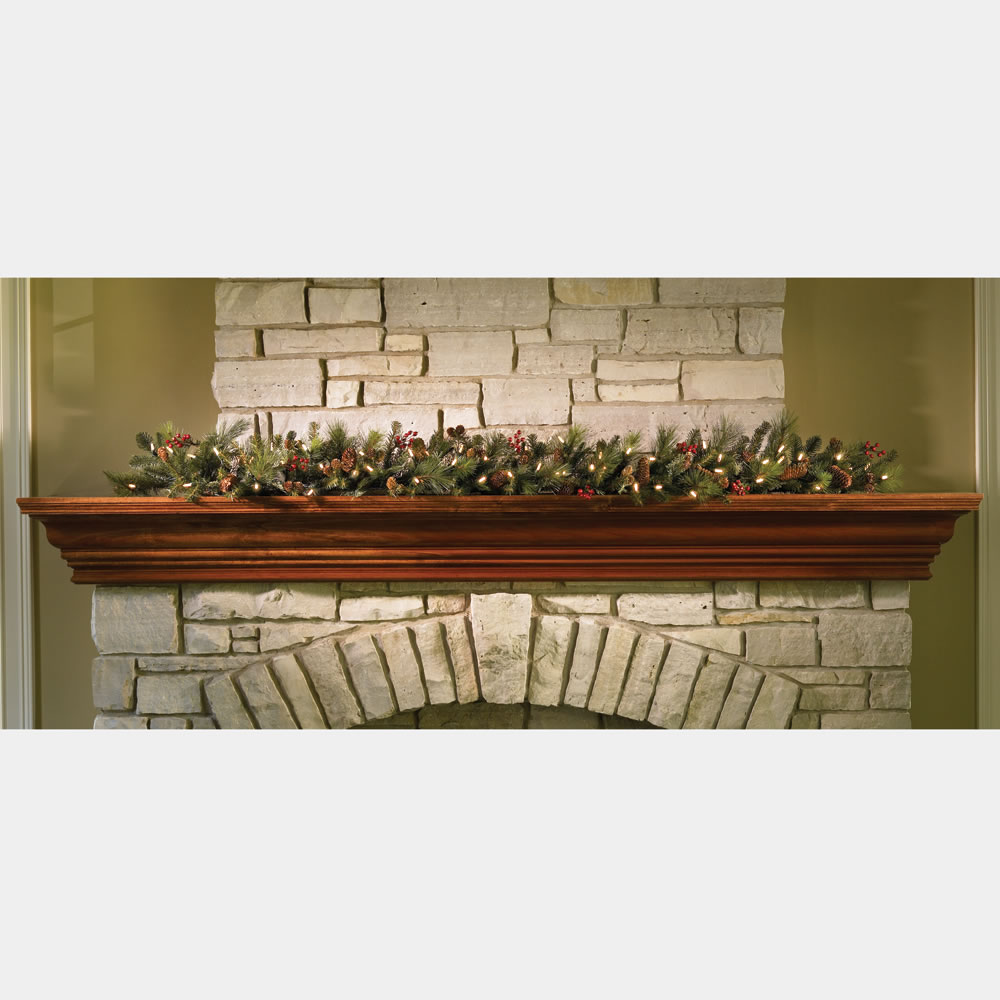 The Decorated Cordless Prelit Holiday 6' Garland 1