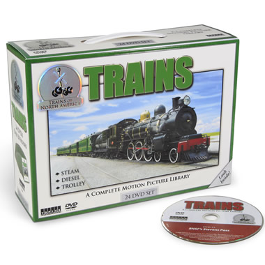 The History of American Trains DVDs.